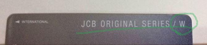 JCB CARD Wの券面上部