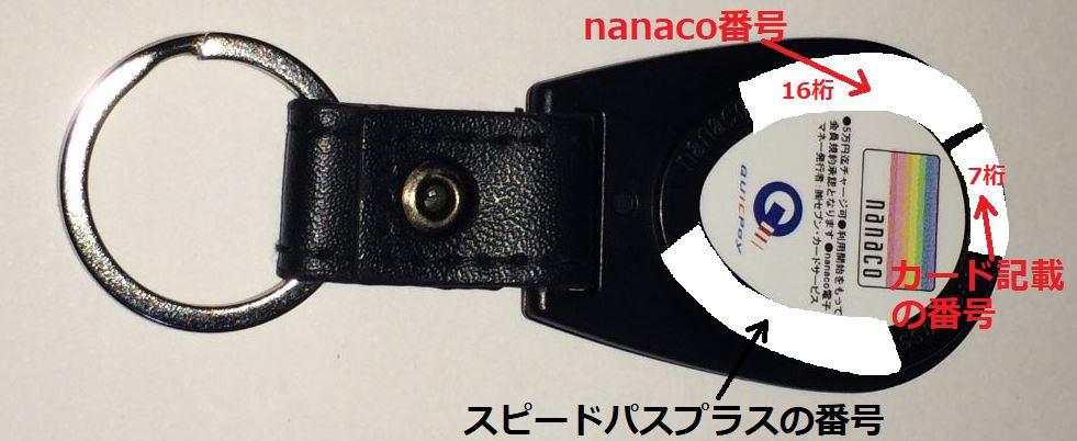スピードパスプラスのnanaco番号